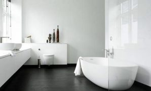 deko and bathroom on pinterest  innerhalb  Badezimmer Dunkler Boden